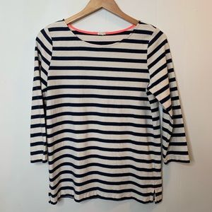 J.Crew Striped Top Boatneck Medium